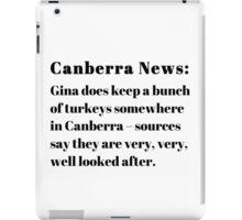 Gina's Canberra Turkeys iPad Case/Skin