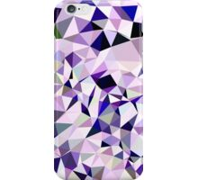 Blue Violet Abstract Low Polygon Background iPhone Case/Skin