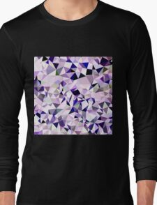 Blue Violet Abstract Low Polygon Background Long Sleeve T-Shirt