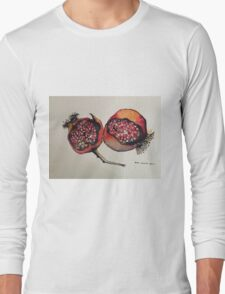 Pomegranate. Pen and wash 2012 Long Sleeve T-Shirt