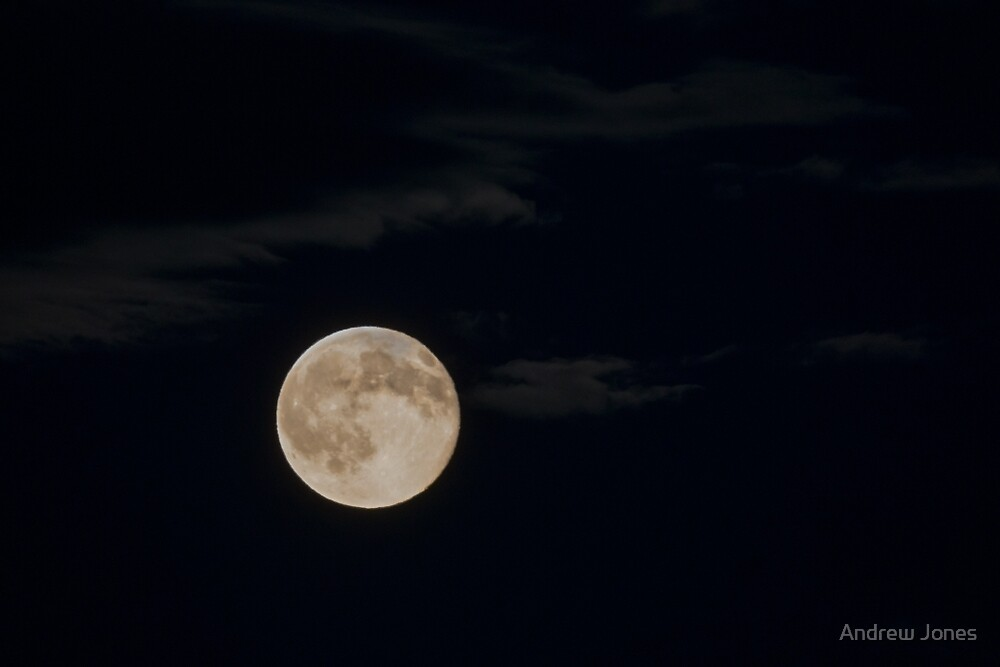 Friday 13th Full Moon over South East Ireland by Andrew Jones