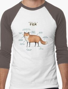 Anatomy of a Fox Men's Baseball ¾ T-Shirt