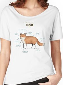 Anatomy of a Fox Women's Relaxed Fit T-Shirt