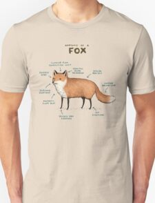 Anatomy of a Fox Unisex T-Shirt