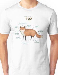Anatomy of a Fox Unisex T-Shirt