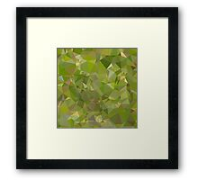 Sap Green Abstract Low Polygon Background Framed Print