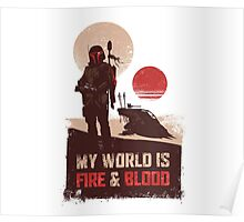 My world is Fire & Blood Poster