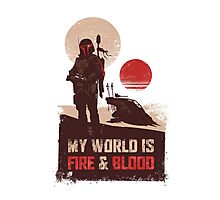 My world is Fire & Blood Photographic Print