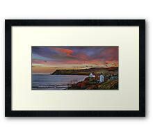 Dusk at Robin Hoods Bay Framed Print