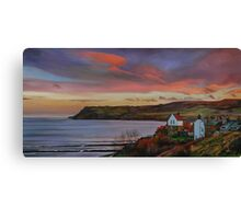 Dusk at Robin Hoods Bay Canvas Print
