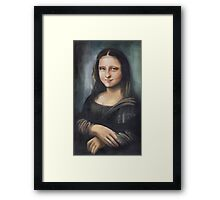 Monalisa: ten years younger :)) Framed Print