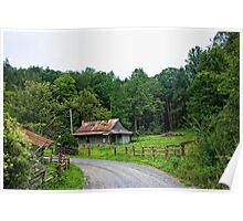 Deserted Cabin - White County, GA  Poster