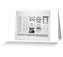 Disassembly Type Machine Greeting Card