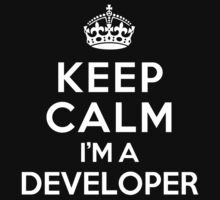 Keep Calm I'm a Developer Kids Clothes