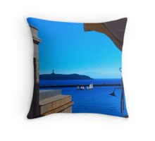 Harbor sail Throw Pillow