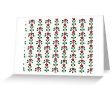 Flowers in Stripes Greeting Card