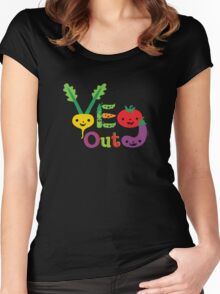 Veg Out Deux - on darks Women's Fitted Scoop T-Shirt