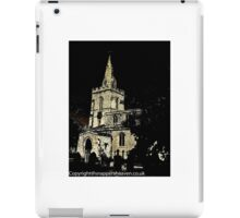 Weekley Church in Black and White, St Mary the Virgin  iPad Case/Skin