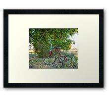 My Little Tricycle.... Framed Print