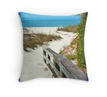 Walkway Out To The Beach Throw Pillow