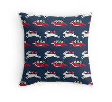 Hare and Fox Pattern Throw Pillow