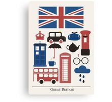 I heart Great Britain Canvas Print