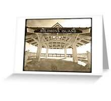 Solomons Island, MD Greeting Card