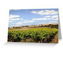 Australian Vineyard Landscape Greeting Card
