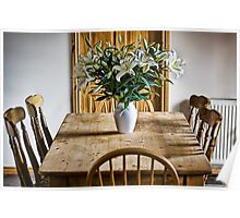 Lilies On The Table Poster
