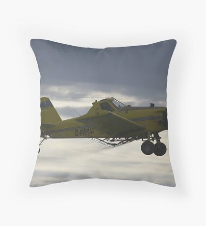 Early Morning Crop Spraying 2 Throw Pillow