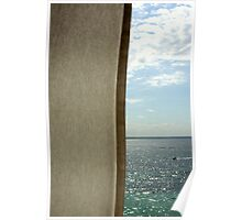 Curtain sea and sky Poster