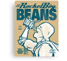Vintage Rocketboy Beans Ad - Captain RibMan Canvas Print