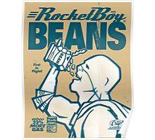 Vintage Rocketboy Beans Ad - Captain RibMan Poster