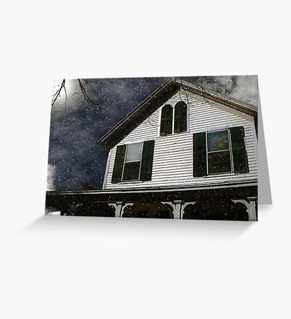 Snowstorm In from the Sound Greeting Card