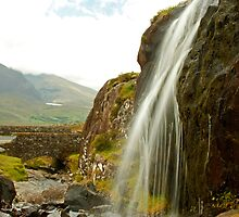 Waterfall at the Conor Pass by Martina Fagan