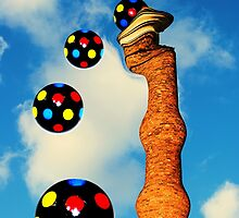 Chimney Popping Disco Balls by Christine Lake
