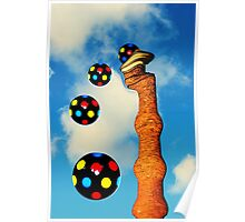 Chimney Popping Disco Balls Poster