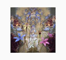 Silky Blue & Orchids with Blue Rusty Metal, native orchids of Western Australia. Classic T-Shirt