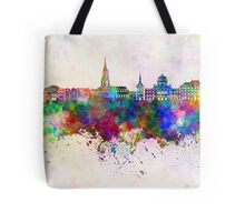 Toulouse skyline in watercolor background Tote Bag