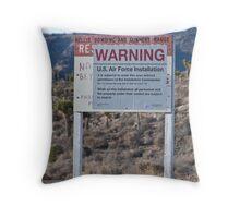 Area 51 Warning Sign Throw Pillow
