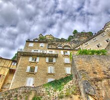 Rocamadour low-angle shot HDR by Frederic Chastagnol