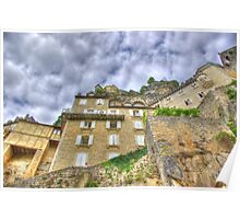 Rocamadour low-angle shot HDR Poster
