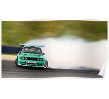BMW Drift panning Poster