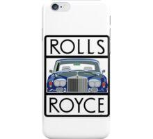 Rolls Royce Silver Shadow logo (White) iPhone Case/Skin