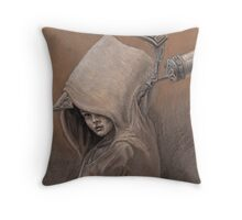 Clever Girl study Throw Pillow