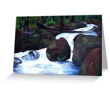 Tranquil Forest Stream Greeting Card