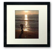 Beach figure Framed Print