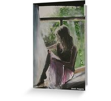 beauty in silhouette Greeting Card