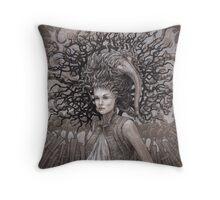 The Ravenous Pregnancy Throw Pillow