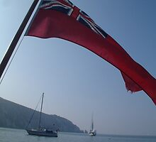 Red Ensign & The Needles by rualexa